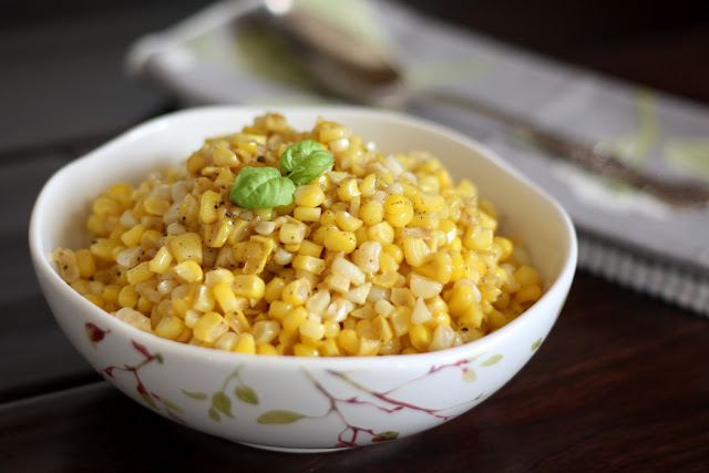 Brown Butter Skillet Corn recipe by Barefeet In The Kitchen