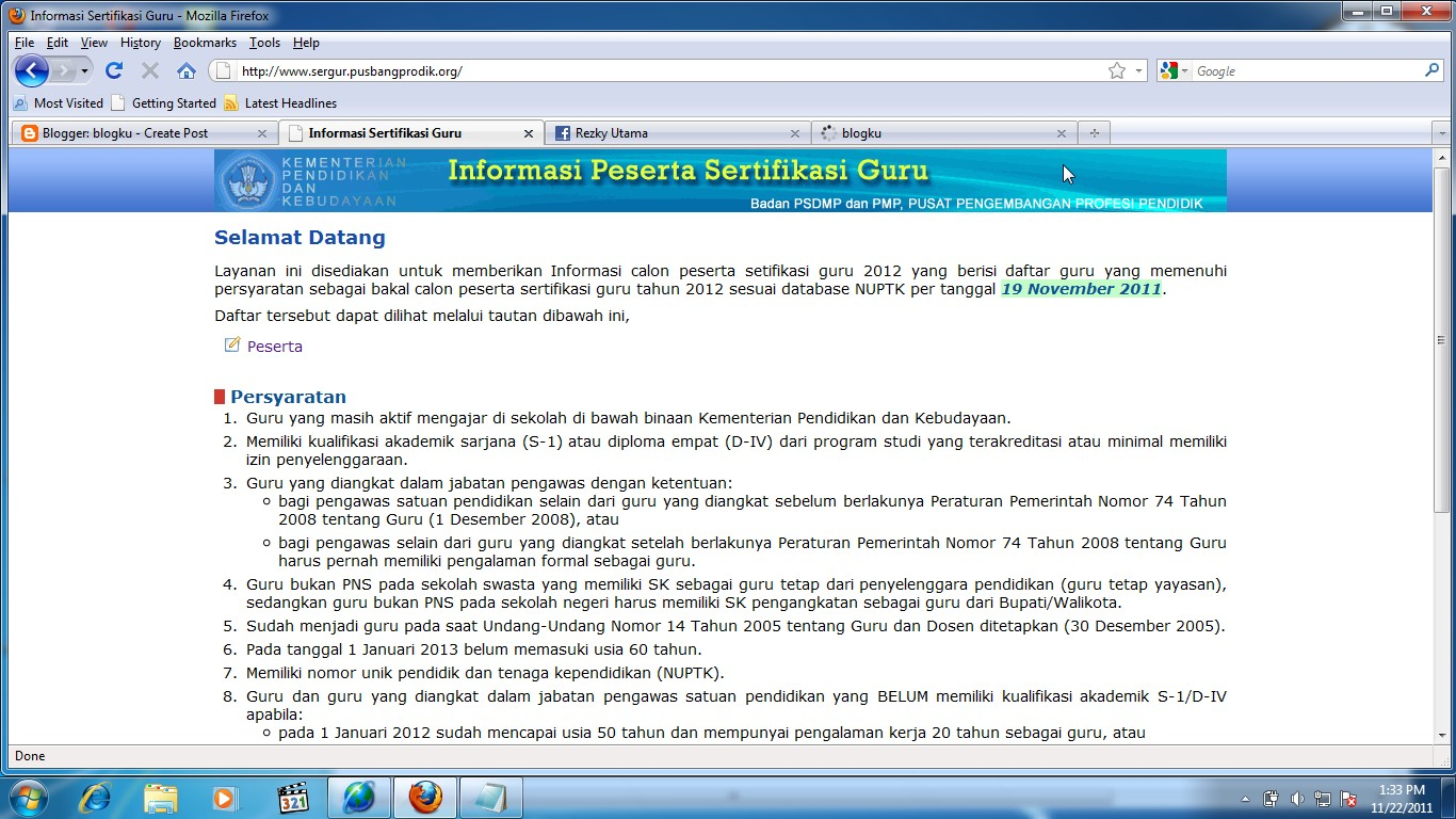 klik ini http www sergur pusbangprodik org setelah anda mengklik link