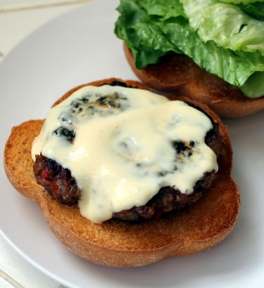 Lamb burgers with yogurt and dijon mustard sauce