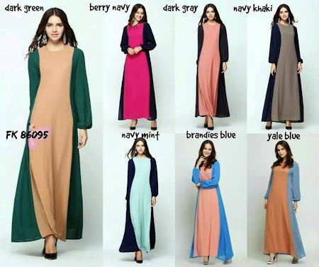 Latest Collection Joint Color Jubah Dengan Design  Yang Sangat Cantik