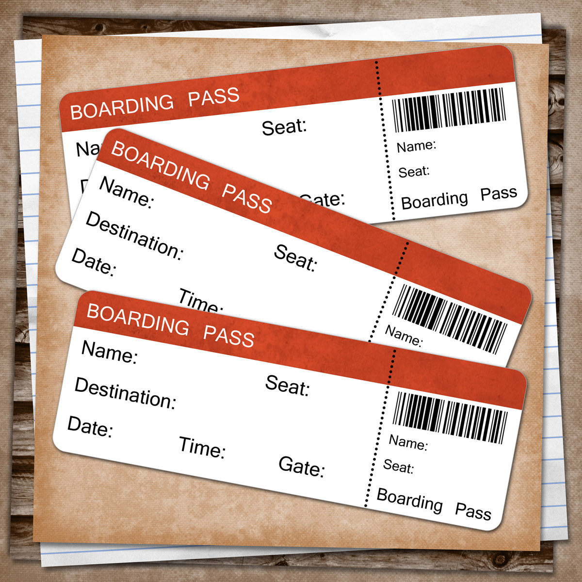 printable boarding pass template