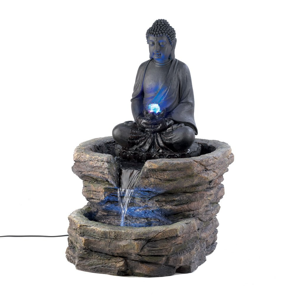 garden fountain with buddha statue garden buddha statues. Black Bedroom Furniture Sets. Home Design Ideas
