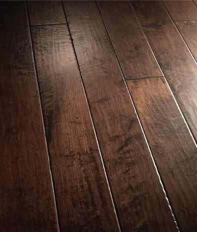 Our Warm And Inviting Wood Floors In A Dark Stain Called Santa Barbara