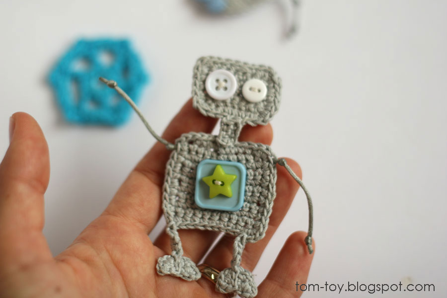 crochet robot applique