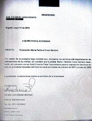 Certificación de exposición de obras
