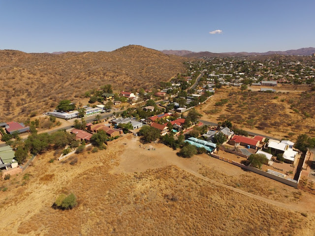 Namibia: sunny weekend flying over Windhoek - aerial photo gallery