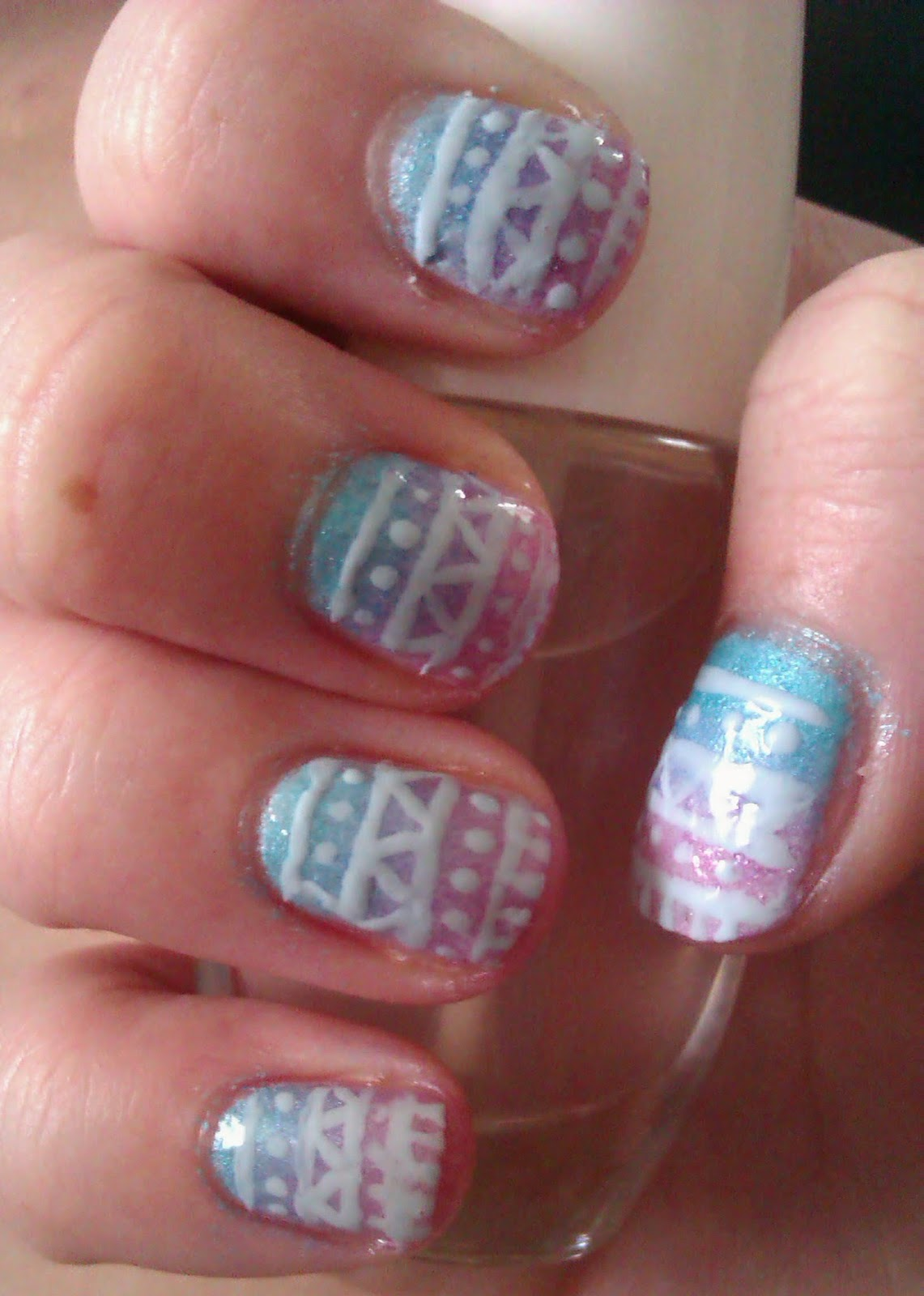 Aztec Alphabet Letters These are today's aztec nails.