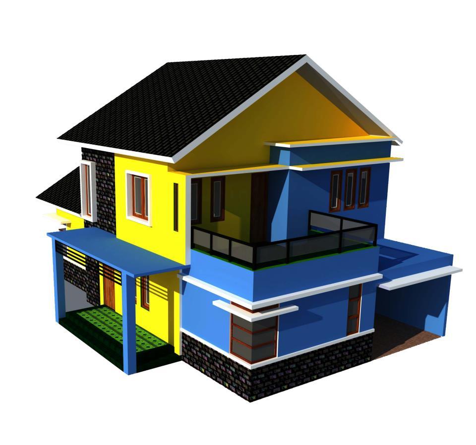 Konsep Atap Rumah Tampak 3D