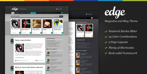 Edge - Magazine Wordpress Theme Free Download.