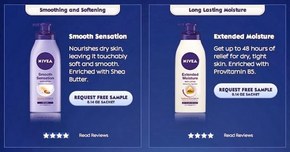 Nivea lotion free sample