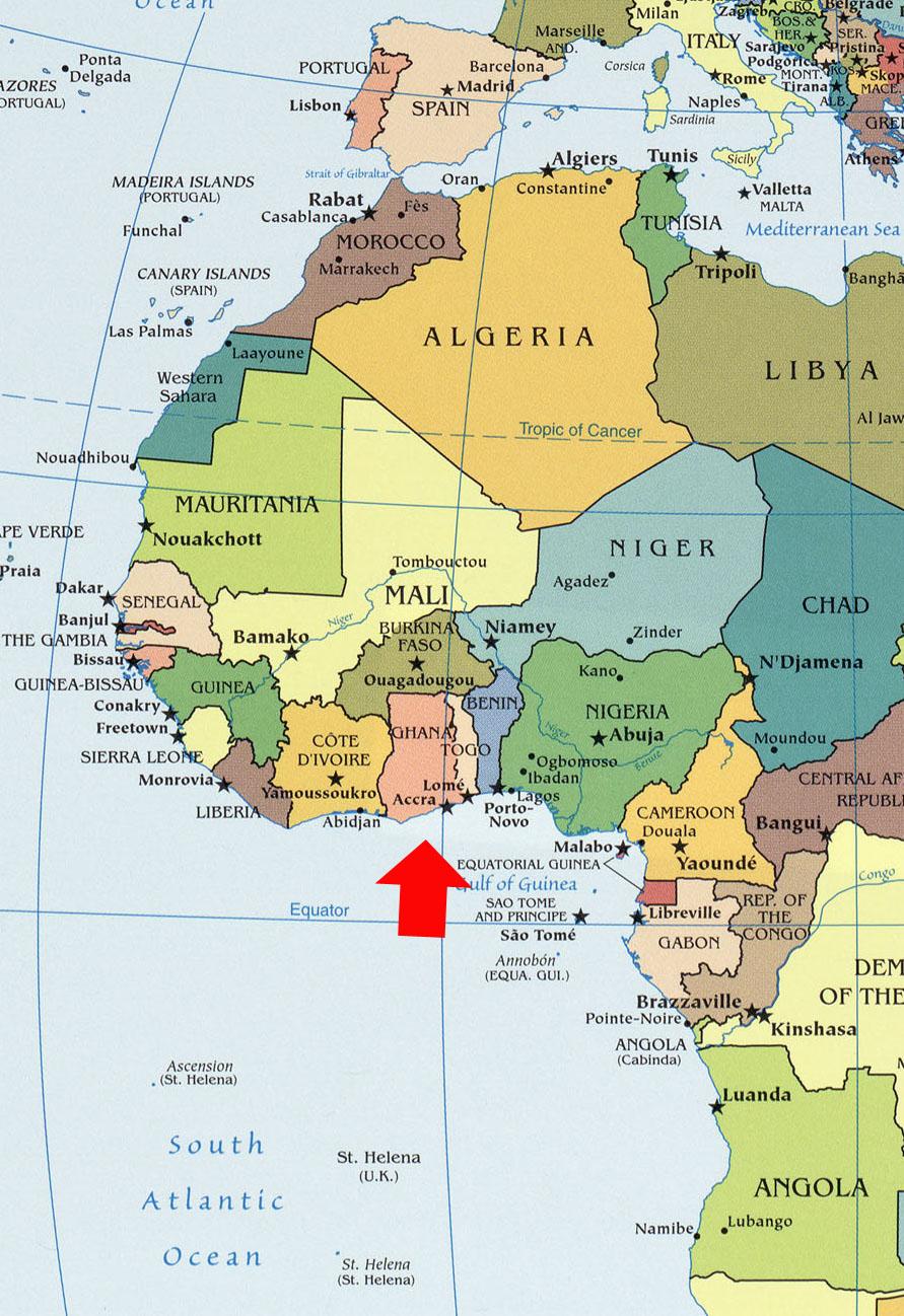 Гвинейский залив где находится
