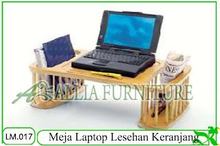 Meja Laptop Lesehan Klender Keranjang