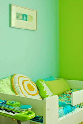 Muonamiehen mökki - Värikäs lastenhuone
