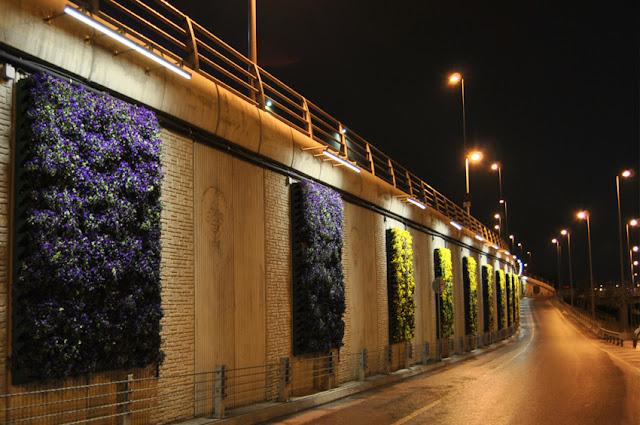 Üzere birçok şehirde duvar bahçe örneklerini görebilirsiniz
