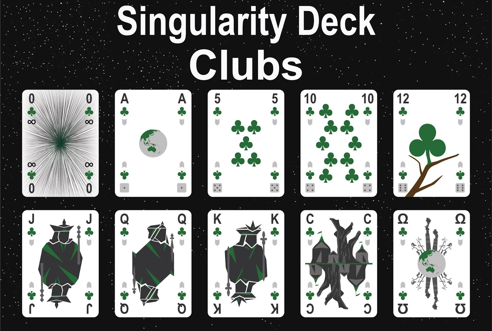 The Singularity Deck - Clubs Art