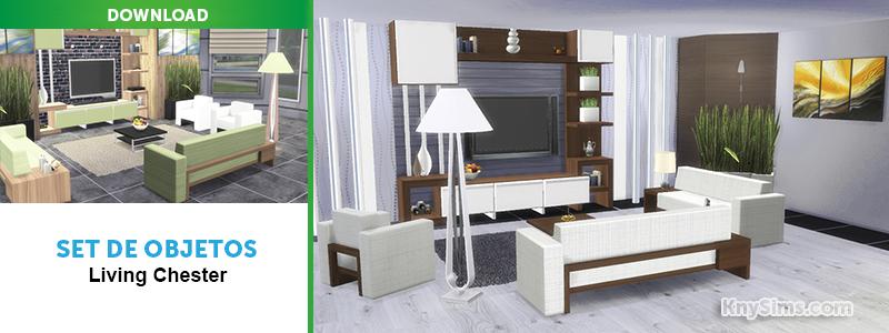 Knysims download set objetos sala de star para the sims 4 for Sala de estar the sims 4