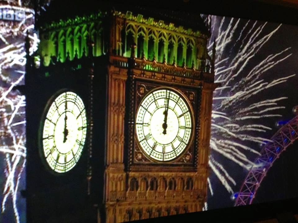 Big Ben on New Years Eve 2015