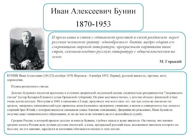 Великие личности. Бунин Иван Алексеевич.