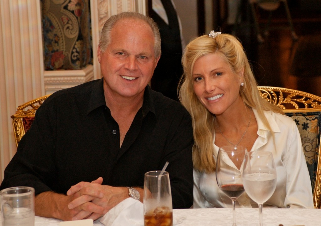 Rush limbaugh has four wives the latest a thirtysomething year old