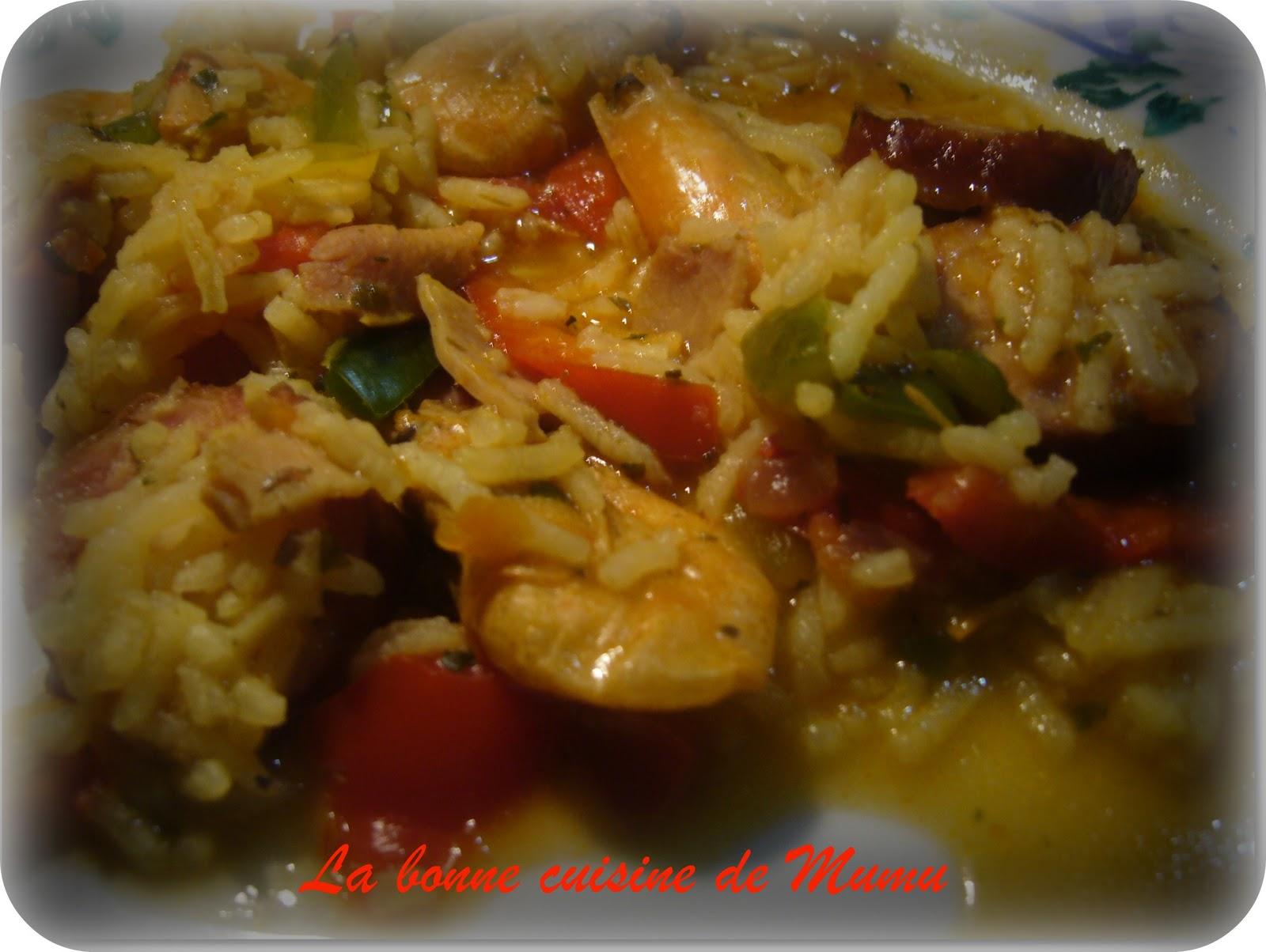 jambalaya aux crevettes et aux poivrons