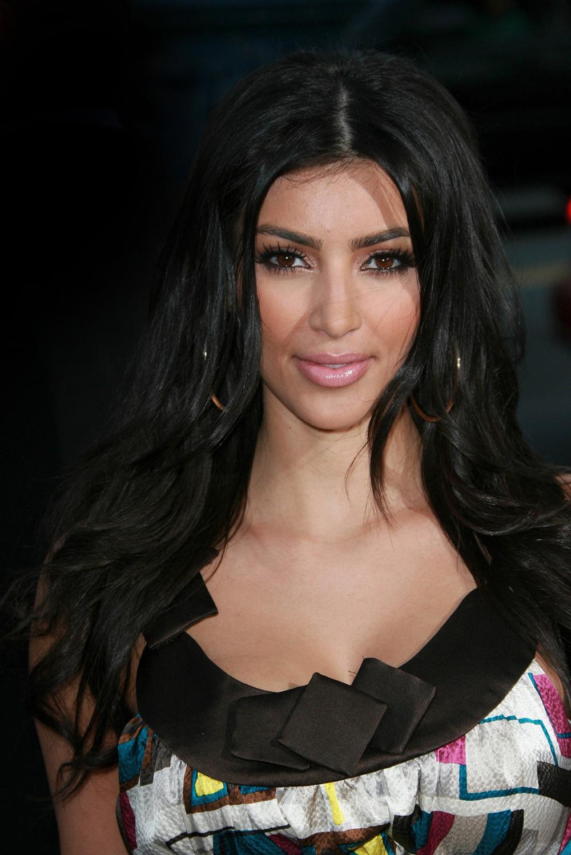 Kim Kardashian Dark Hair Color 06