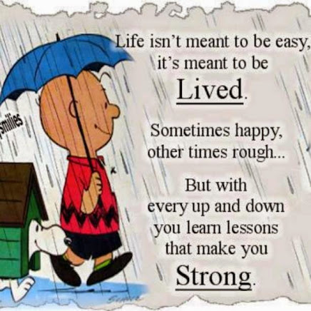 Live your Life to its fullest --even in times of struggle.