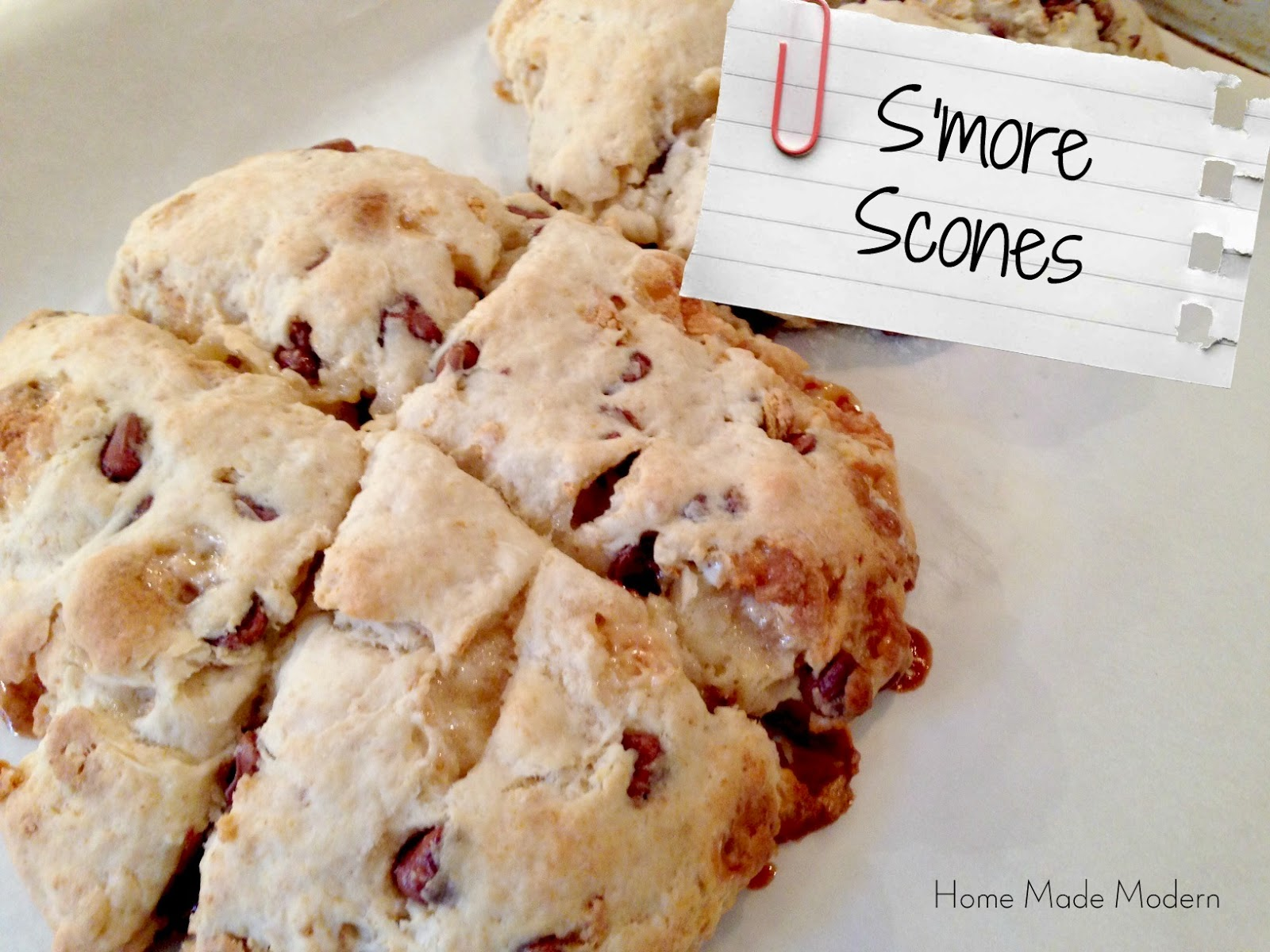 Home Made Modern: Recipe of the Week: S'more Scones