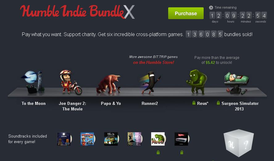 Nuevo Humble Bundle de juegos independientes.