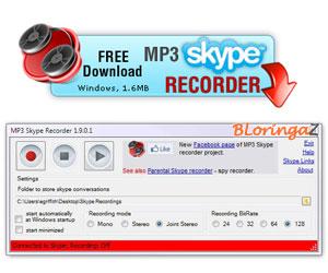 Grava tus conversaciones con MP3 Skype Recorder
