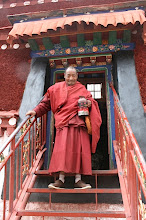 Red-robed Tibetan Monk