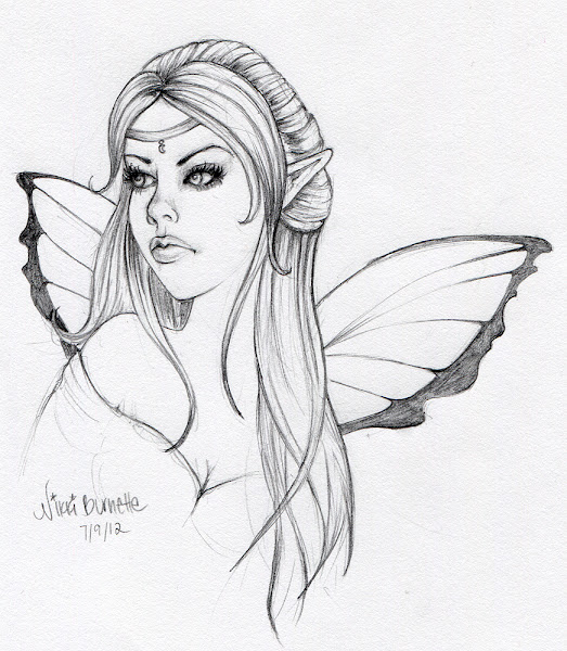 Cute Fairy Drawing Pencil Sketches