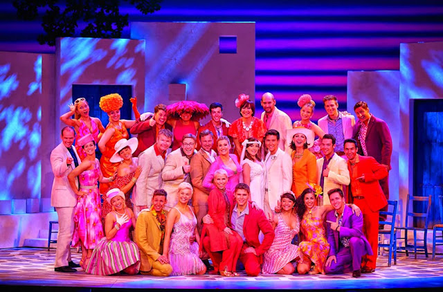 Mamma Mia! musical wedding group photo international tour