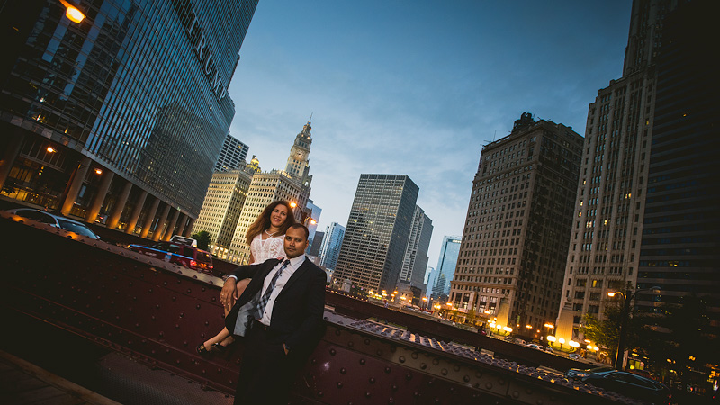 Chicago Night Creative Engagement Photo