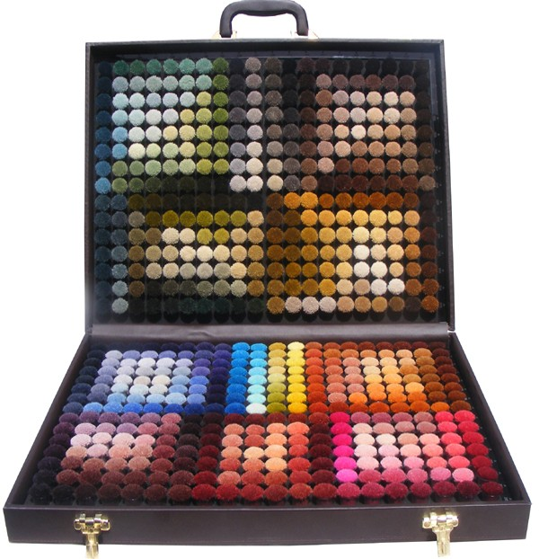 wool colour box