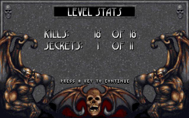 Blood level stats screen