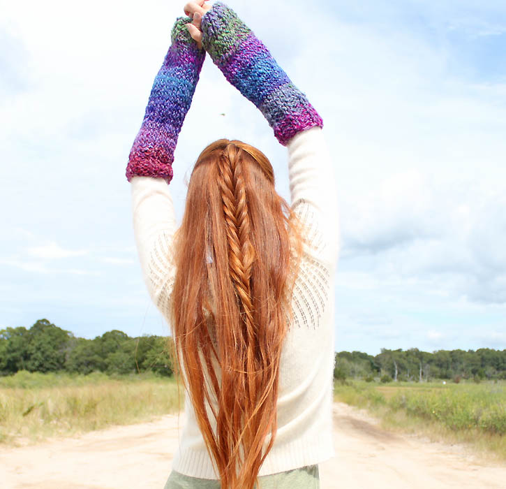 Gina Michele: Ribbed Arm Warmers [knitting pattern]