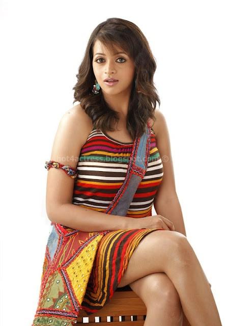 Bhavana expose her milky thighs