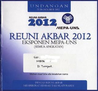 reuni akbar MEPA-UNS 2012