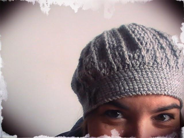 Boina con puntos en relieve a crochet | Margarita Knitting