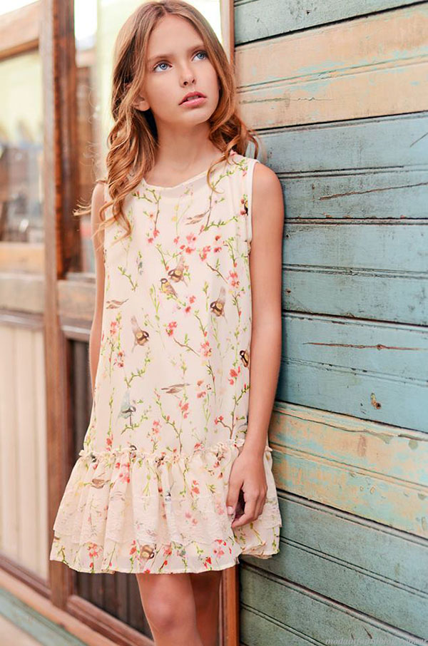 Moda primavera verano 2015 vestidos para niñas.