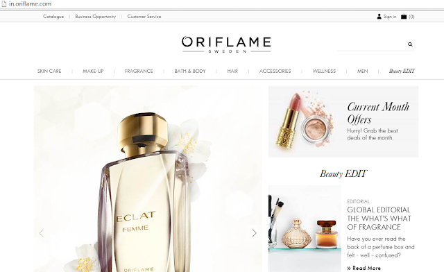 Oriflame Website Revamped