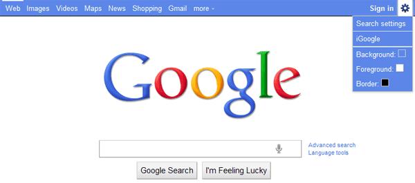 Custom Google Navigation Bar Color
