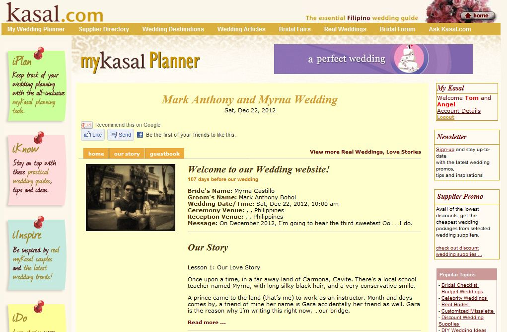 Kasal S Mykasal Planner Offers Free Wedding Announcements For Soon To Wed