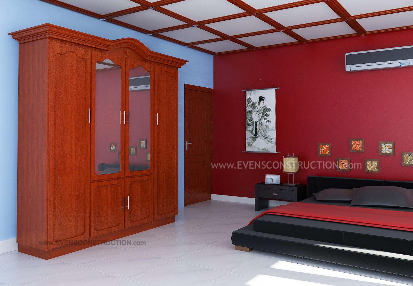 Evens Construction Pvt Ltd Master Bedroom With Wardrobe