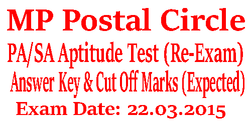 MP Postal Circle PA-SA Answer Key 2016