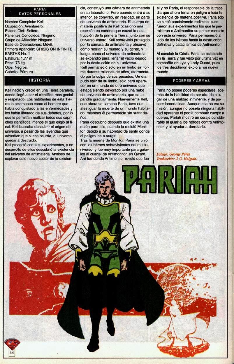 Paria Ficha DC Comics