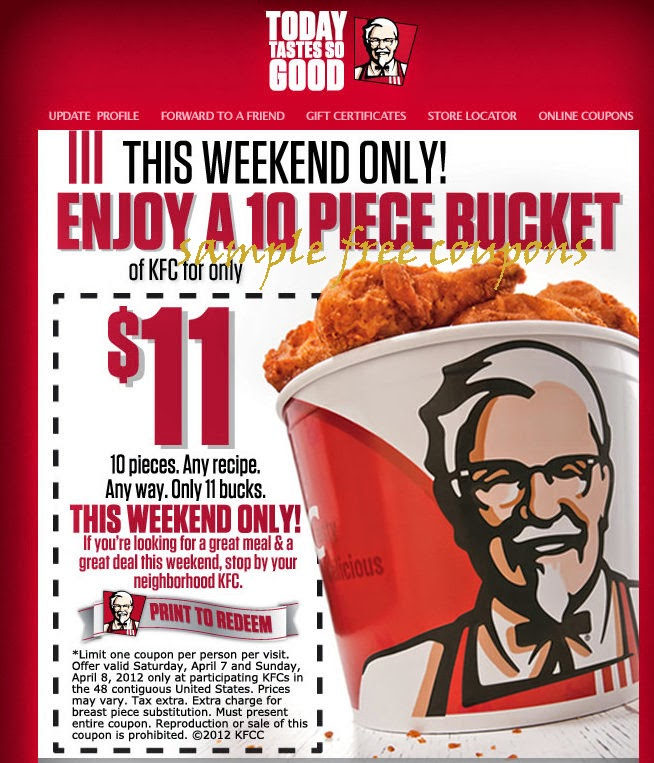 kfc coupons july 2014 note you can also get this at coupons for