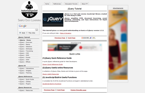 tutorials point jquery
