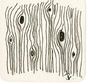 Zentangle-Muster. Tangle: B-Horn Designer: Beate Winkler, CZT