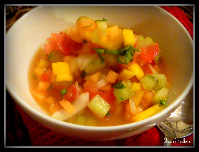 Slice of Southern: Summer Fruit Gazpacho